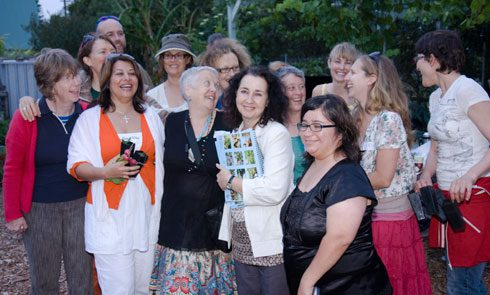 Celebration should be part fo commuity garden life. Pictured are attendees at the launch of the 2009 Community Gardens Calendar.